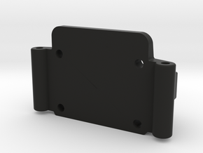 Team Losi JRX Front Bulkhead in Black Natural Versatile Plastic
