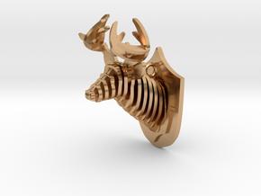 Deer head in Polished Bronze