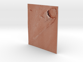Mars Map: Ring And Cone - Red in Matte Full Color Sandstone