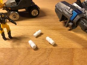 4mm Connector Pin in White Natural Versatile Plastic: Medium