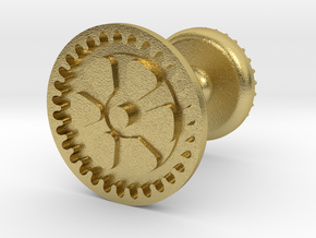 Gear Wax Seal in Natural Brass