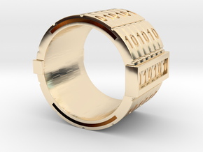binary-ring-9US in 14K Yellow Gold