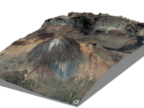 Pico del Teide Map, 1:45,000 in Matte Full Color Sandstone