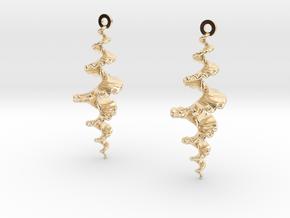 Fractal Sp. Earrings  in 14K Yellow Gold