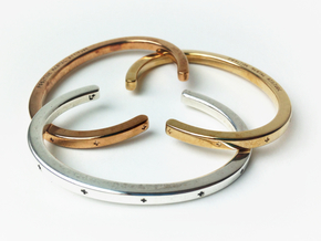 Plus Cuff (large) in Polished Brass