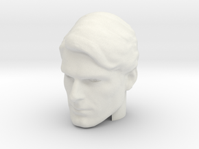 Superman head  in White Natural Versatile Plastic