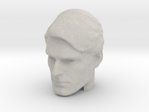 Superman head | Christopher Reeve in Natural Full Color Sandstone