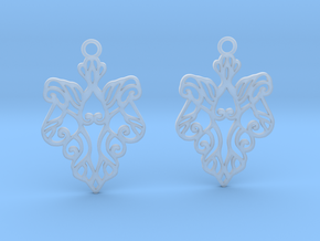 Alarice earrings in Smooth Fine Detail Plastic: Small