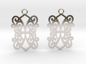 Ealda earrings in Rhodium Plated Brass: Small