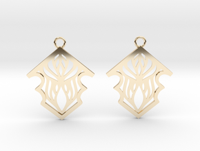 Earleen earrings in 14K Yellow Gold: Small