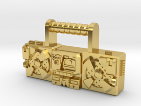 "Titans Return Blaster, 4"" and 6"" figure scales. in Polished Brass: Small"