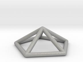 0722 J02 Pentagonal Pyramid E (a=1cm) #1 in Aluminum