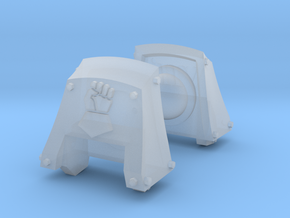 Royal Fists Count Dreadnought Shoulder Pads #1 in Smooth Fine Detail Plastic