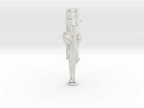 Magellan Battleship from Gundam in White Natural Versatile Plastic: 1:3000