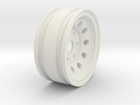 "1.55"" Steelie 10-Hole 6 Lug Wheel in White Natural Versatile Plastic"
