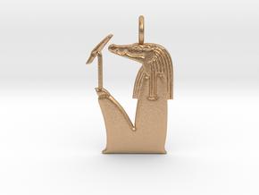 Sobek amulet, no crown version in Natural Bronze
