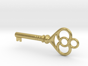Cupboard Key (Indian in the Cupboard, 1995) in Natural Brass