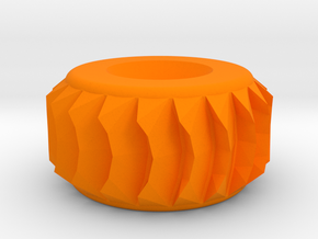 78mm Electric Longboard Wheel For Sand & Snow in Orange Processed Versatile Plastic