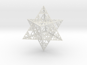 Sierpinski Merkaba L5 Hollow  in White Natural Versatile Plastic