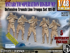 1/48 Antarctic Troops Set101-01 in Smooth Fine Detail Plastic