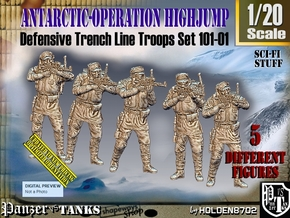 1/20 Antarctic Troops Set101-01 in White Natural Versatile Plastic