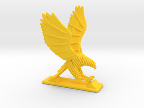 Sliced hawk Desktoy in Yellow Processed Versatile Plastic