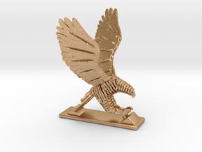 Sliced hawk Desktoy in Natural Bronze