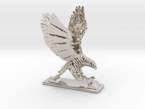 Sliced hawk Desktoy in Rhodium Plated Brass