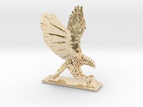 Sliced hawk Desktoy in 14k Gold Plated Brass
