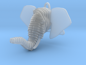 Sliced Elephant head Pendant in Smooth Fine Detail Plastic