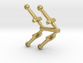 4PK G SCALE A5 SMOKEBOX STANCHION  in Natural Brass