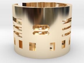 Nano biscotte V3 +v4 holder  in 14k Gold Plated Brass