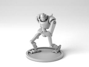 Private Security Robot in Smoothest Fine Detail Plastic