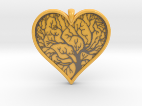 Tree of life Heart pendant in Glossy Full Color Sandstone