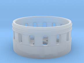 Bass Speaker Holder 28mm in Smooth Fine Detail Plastic
