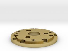 Chassis disk  in Natural Brass