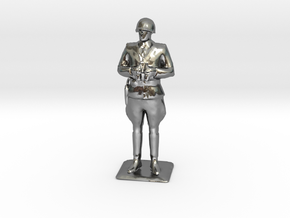 Patton  at 1:72 Scale in Polished Silver
