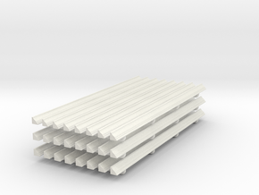 Moulding 01. 1:24 Scale in White Natural Versatile Plastic