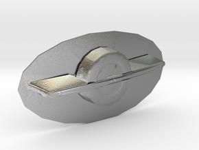 OneWheel Belt Buckle in Natural Silver