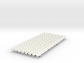 Moulding 01. 1:12 Scale in White Natural Versatile Plastic