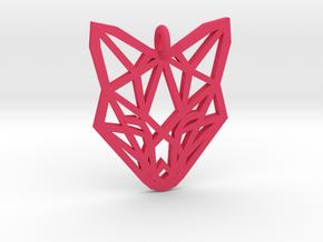 Fox Pendant in Pink Processed Versatile Plastic