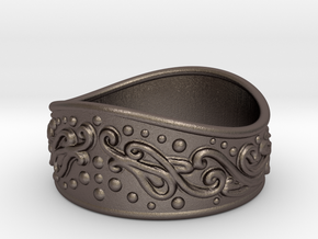 Knight bracelet in Polished Bronzed-Silver Steel: Extra Small