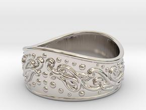 Knight bracelet in Rhodium Plated Brass: Large