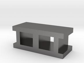 Cinderblock in Polished Nickel Steel
