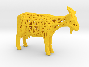 Goat in Yellow Processed Versatile Plastic