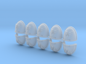 Red Ángeles Shoulder Pads Mk4 x10 in Smooth Fine Detail Plastic