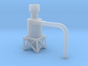 Dachzyklonfilter V1 flach 1:120 in Smooth Fine Detail Plastic