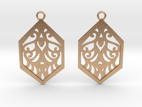 Aaricia earrings in Natural Bronze: Small