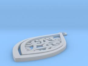 Nessa pendant in Smooth Fine Detail Plastic: Small