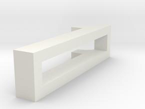 CHOKER SLIDE LETTER 1 1⅛, 1¼, 1½, 1¾, 2 inch sizes in White Natural Versatile Plastic: Extra Small